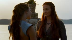 Margaery y Sansa